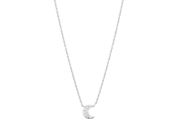 Collier New Marilyn en argent 925 rhodié, brillants, 5g Clio Blue