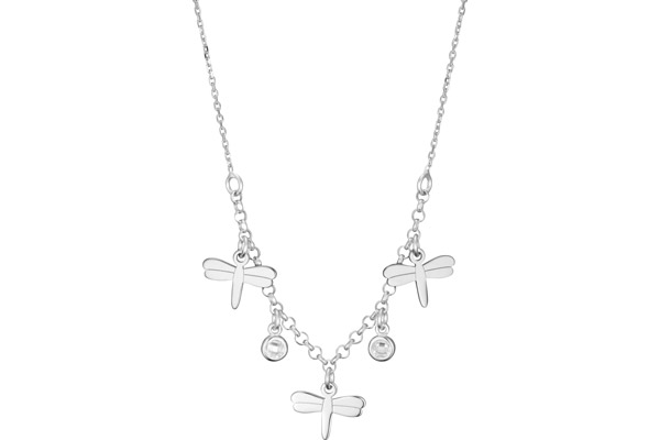 Collier ras de cou Intemporels en argent 925, brillants, 2g Clio Blue