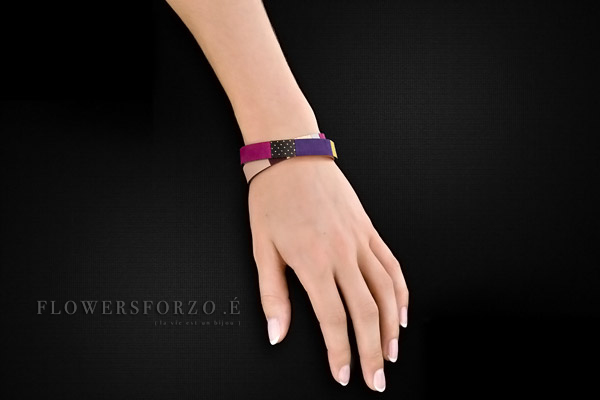 Bracelet 2 tours Gabriel en cuir, plaquage or rose, Grace FlowersforZoé, packaging