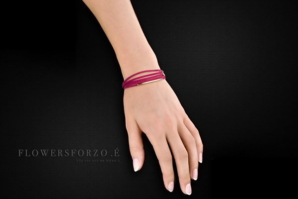 Bracelet Multiliens Multiliens en cuir, plaquage or rose, Passion FlowersforZoé, packaging