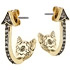 House of Harlow 1960, Boucles d'oreilles percées Arrow Affair, dorure or 14 carats, brillants