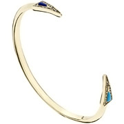 Bijoux House of Harlow 1960 - Bracelet manchette delta, dorure or 14 carats, brillants, Ø55mm