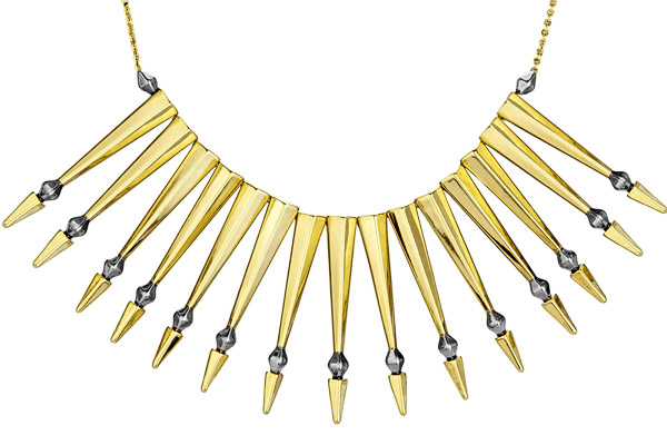 Collier plastron Nomadic Warrior doré à l'or fin House of Harlow 1960