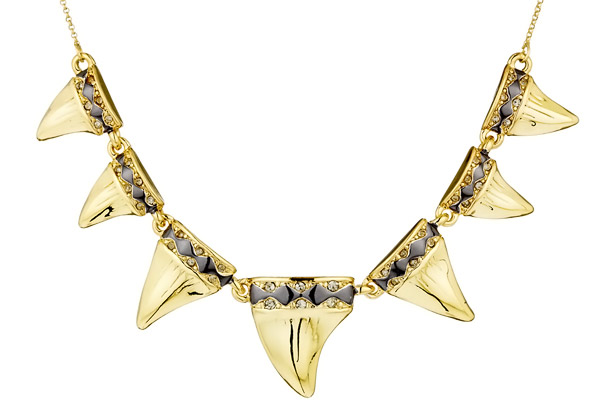Collier Diamondhead, dorure or 14 carats, brillant House of Harlow 1960