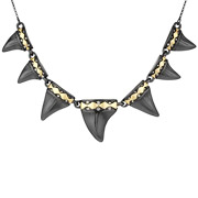 Bijoux House of Harlow 1960 - Collier Diamondhead rhodié noir, brillant