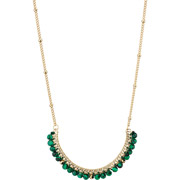 Bijoux Ikita - Collier Chica, métallisation Or, Malachite