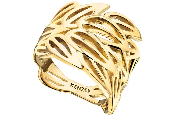 Bague Bamboo plaquée or 18K, T54 Kenzo