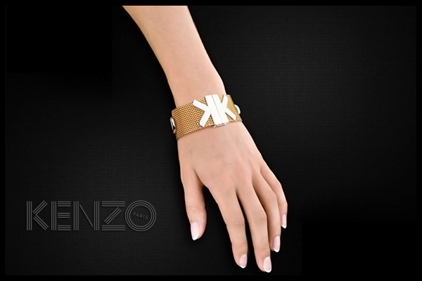 Bracelet K plaqué or 18K Kenzo, packaging