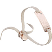 Bijoux Les Interchangeables - Bracelet ruban, dor. or rose, Beige