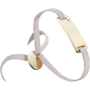 Bijoux Les Interchangeables - Bracelet ruban, dor. or, Beige Rose