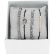 Bijoux Les Interchangeables - Bracelets Strass Box Fabric 4, dorure or rose, Gris 3, Ø50mm