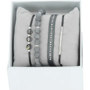 Bijoux Les Interchangeables - Bracelets Strass Box New 1 Rang 6, mét. Palladium, Gris 3, Ø50mm