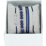 Bijoux Les Interchangeables - Bracelets Strass Box New 1 Rang 6, mét. Palladium, Marine, Ø50mm