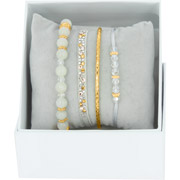 Bijoux Les Interchangeables - Bracelets Strass Box Bobo Chic, dorure or jaune, Gris 48, Ø50mm