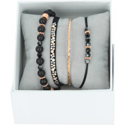 Bijoux Les Interchangeables - Bracelets Strass Box Bobo Chic, dorure or rose, Noir, Ø50mm
