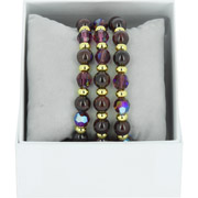 Bijoux Les Interchangeables - Bracelets Strass Box Trio Sparkle, dorure or jaune, Bordeaux 87, Ø50mm