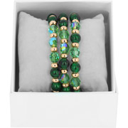 Bijoux Les Interchangeables - Bracelets Strass Box Trio Sparkle, dorure or rose, Vert, Ø50mm