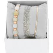 Bijoux Les Interchangeables - Bracelets Strass Box Fabric 9, dorure or rose, Beige 163, Ø50mm