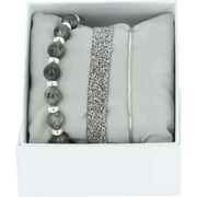 Bijoux Les Interchangeables - Bracelets Strass Box Fabric 9, mét. Palladium, Gris 3, Ø50mm