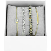 Bijoux Les Interchangeables - Bracelets Strass Box La Re-Belle, dorure or jaune, Gris 48, Ø50mm