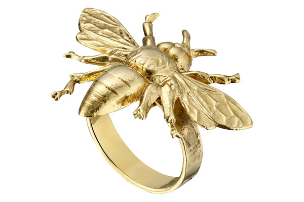 Bague Bee, dorure à l'or fin, réglable Lottadjossou