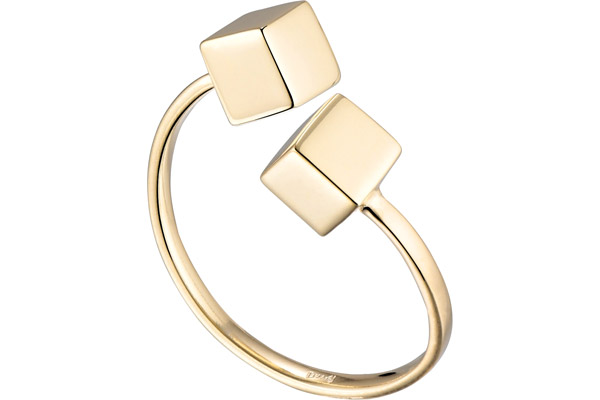 Bague The Cube, plaqué or 18K, réglable Louise Hendricks