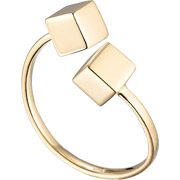 Bijoux Louise Hendricks - Bague The Cube, plaqué or 18K, réglable