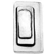 Bijoux Metal Pointu's - Bague Pop rectangle plaquée argent, réglable