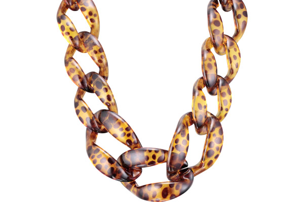 Collier maillons en acétate, Ocre My Clio