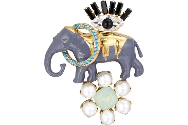 Broche Magic Circus, dorure or fin, c. Swarovski Philippe Ferrandis