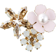 Bijoux Philippe Ferrandis - Broche Florida, dorure or fin, Rose