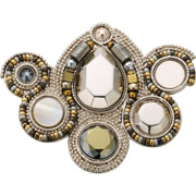 Bijoux Satellite - Broche Claudia, dorure or 14K, Doré