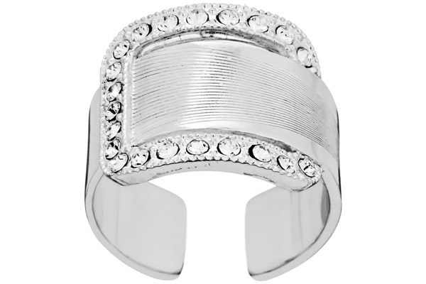 Bague ajustable cristal Swarovski Manhattan argentée Satellite