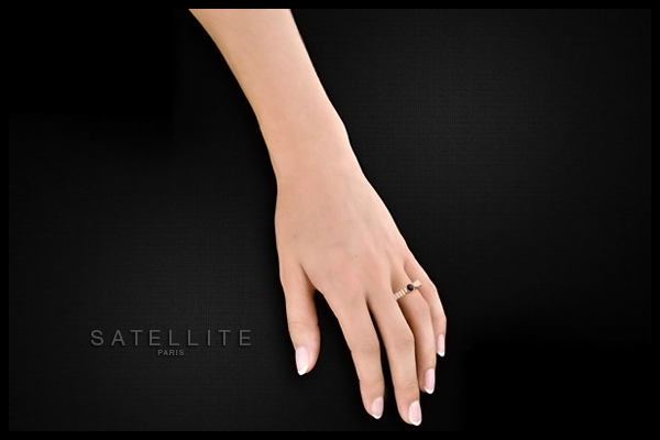 Bague Tananarive, dorure or 14K, réglable Satellite, packaging