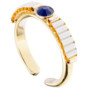 Bijoux Satellite - Bague Tananarive, dorure or 14K, réglable