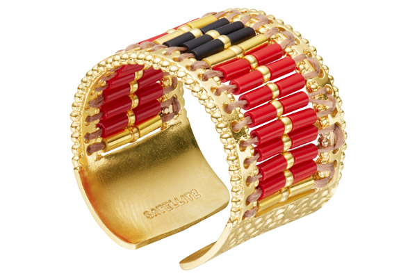 Anneau Jane, dorure or 14K, Rouge Satellite