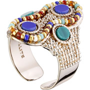 Bijoux Satellite - Bague Claudia, dorure or 14K, Multicolore, réglable