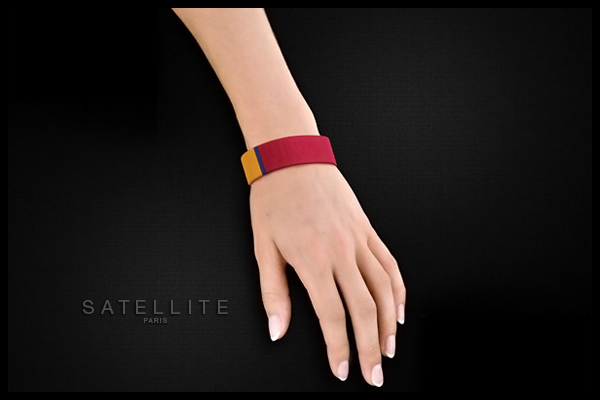 Bracelet manchette Tananarive, dorure or 14K, Ø65mm Satellite, packaging