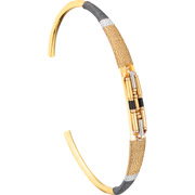 Bijoux Satellite - Bracelet manchette M Jane, dorure or 14K, Ø60mm