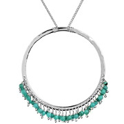 Bijoux Satellite - Collier argent pampilles Sweety turquoise