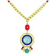 Bijoux Satellite - Collier cabochon pâte de verre Windy Flower