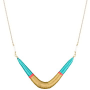 Bijoux Satellite - Collier Tananarive, dorure or 14K, Turquoise, Ø65mm