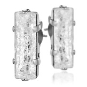 Bijoux Stefano Poletti - Boucles d'oreilles cristal taille rectangle Shock