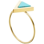 Bijoux Zag Bijoux - Bague triangle, dorure or jaune, T54