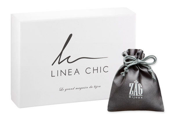Boucles d'oreilles puces papillon, dorure or jaune Zag Bijoux, packaging