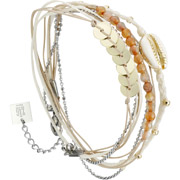 Bijoux Zag Bijoux - Bracelet multi-tour en acier, orange