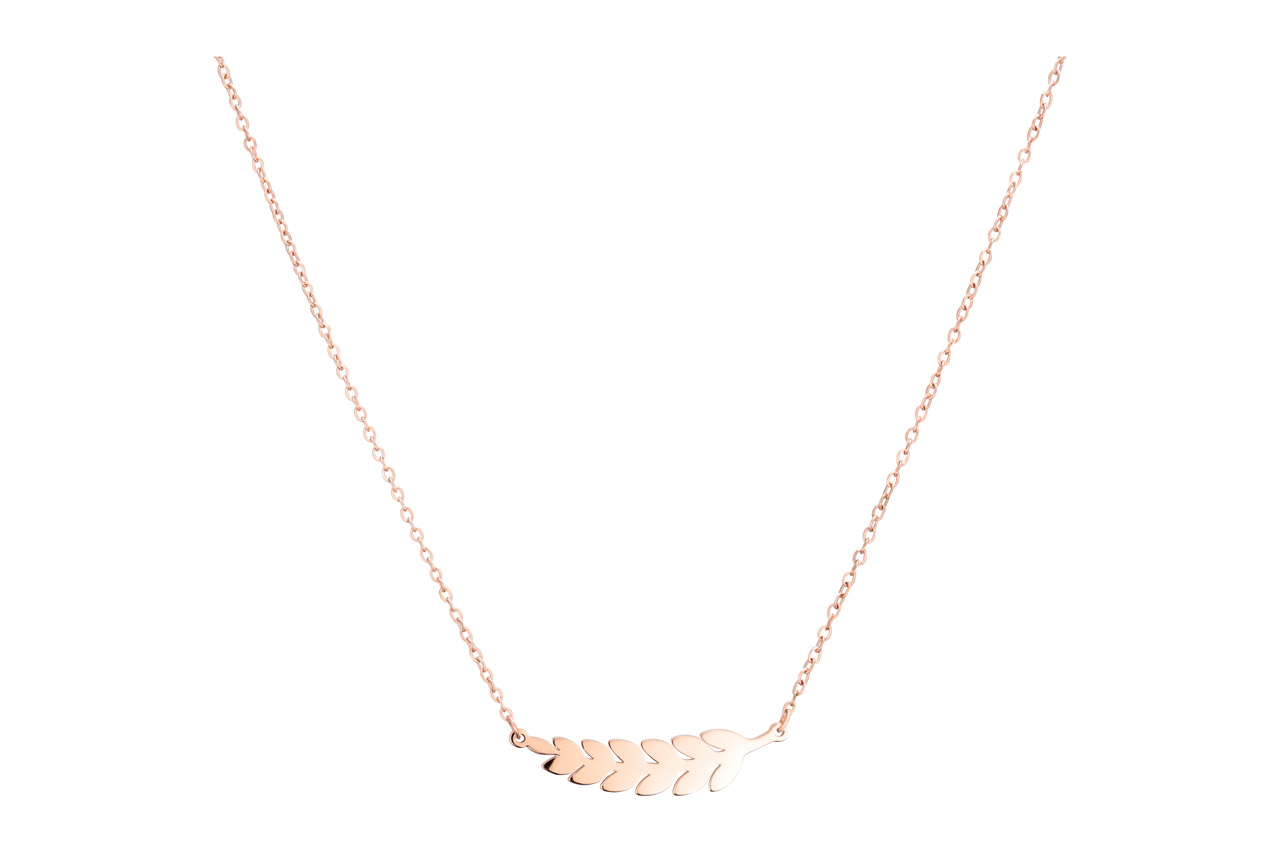 super qualité marques reconnues 2019 original Collier ras de cou rameau, dorure or rose